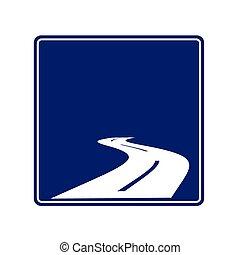 condurre, vettore, strada, horizon., illustrazione