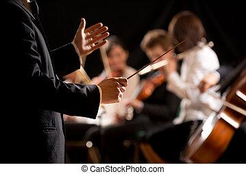 condutor orquestra, fase