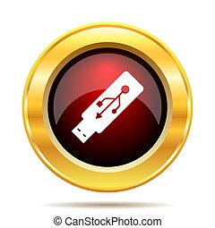 conduzir, flash, usb, ícone