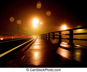 conduzir, molhados