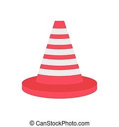 cone  flat color icon