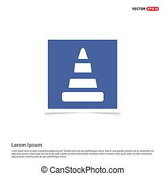 Cone Icon - Blue photo Frame
