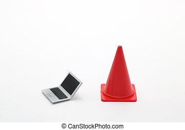 cone., ordinateur portable, sécurité