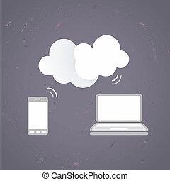 conectado, Dispositivos, nube