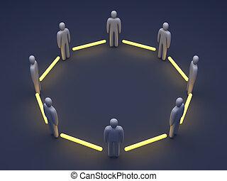 conectado, equipo