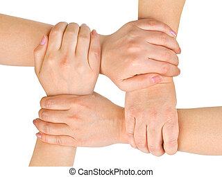 conectado, manos