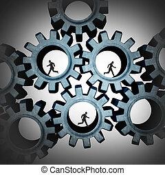 conectado, trabajo en equipo, gente