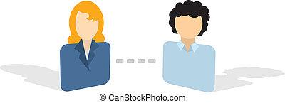 conectando, avatar, ícones