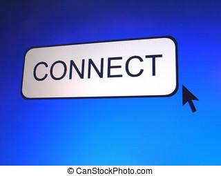 conectar, botón