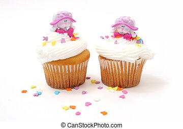 conejitos, pascua, cupcakes