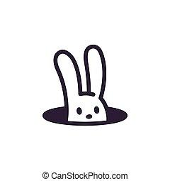 conejo, agujero