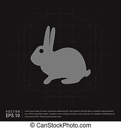 conejo, icono