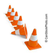 cones tráfego