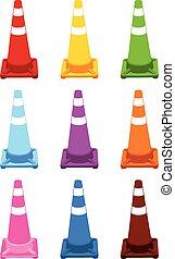 cones., trafic