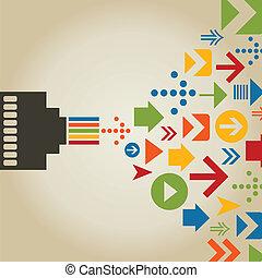conexão, computador