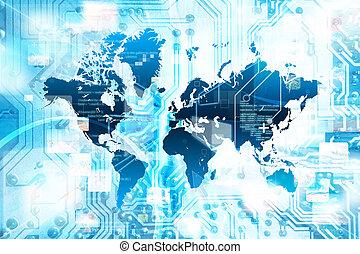 conexão, conceito, internet