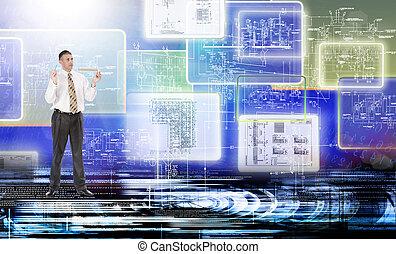 conexão, tecnologia
