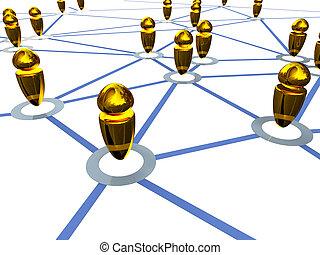 conexão, trabalho, ouro
