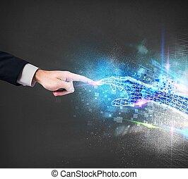 conexão, virtual