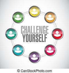 conexões, desafio, conceito, você mesmo, sinal