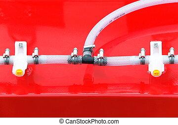 Conexões,  Industrial, detalhe, hidráulico, maquinaria