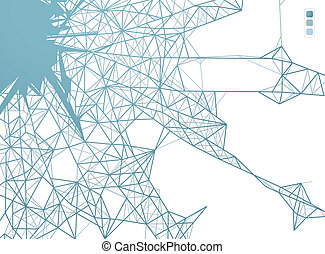 conexões, teia, projeto gráfico