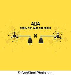 conexión, 404, error.