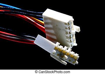 conexión, alambres