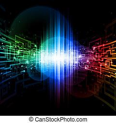 conexión, espacio