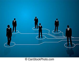 conexiones, empresa / negocio