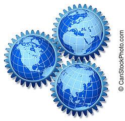 conexiones, mundo, economía