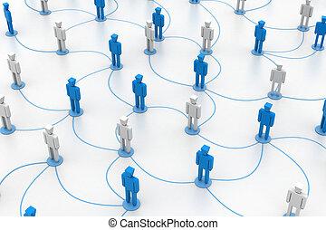 conexiones, red, humano