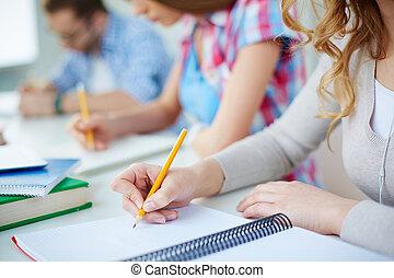 conférence, écriture
