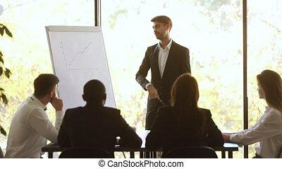 conférence, applaudissements, obtenir, donner, diagramme,...