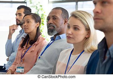 conférence, business, professionnels