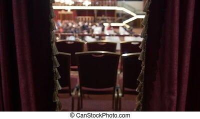 conférence, business, zone, chaises, vip, devant, vide, auditorium