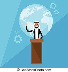 conférence, dirigeants, international, presse, président, arabe