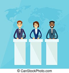 conférence, dirigeants, international, presse, président