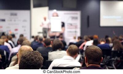 conférence, formation, concept, bureau affaires, gens, réunion, séminaire