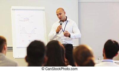 conférence, groupe, professionnels