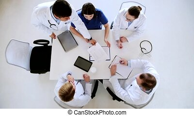 conférence, hôpital, groupe, médecins