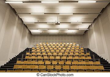 conférence, intérieur, moderne, salle, vide