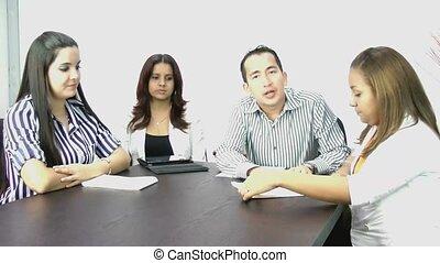 conférence, meeting;, vidéo, business