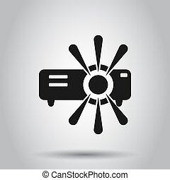 conférence, plat, projecteur, business, cinéma, concept.,...