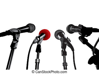 conférence presse, (vector)