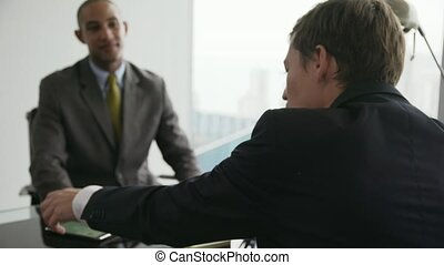 conférence, professionnels, équipe, appeler, 7, conseiller, réunion