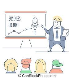 conférence, revêtir art, business