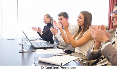 conférence, travail, réunion, salle