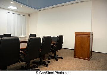 conférence, tribune, salle