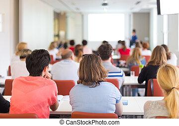 conférence, university.
